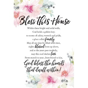 Woodland Grace Bless This House Print on Wood by Dexsa