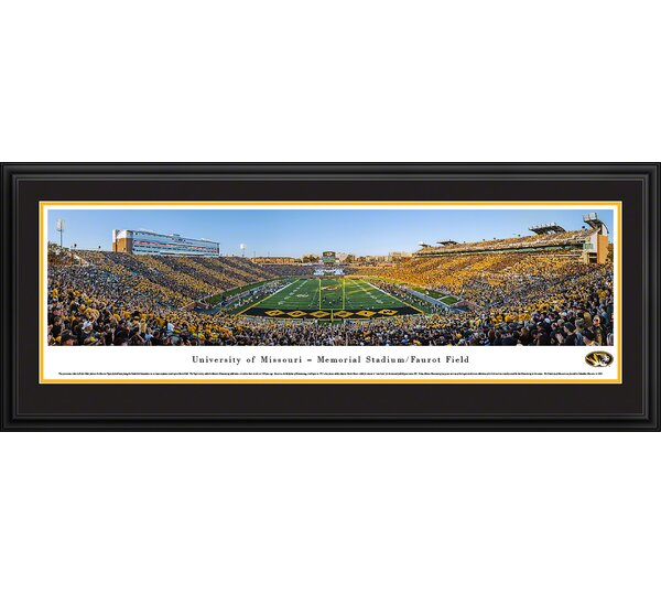 NCAA Missouri, University of - Football End Zone by Robert Pettit Framed Photographic Print by Blakeway Worldwide Panoramas, Inc