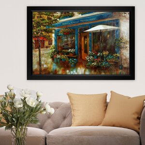 Anna Flower Shop' by Nan F Framed Painting on Canvas by Wexford Home