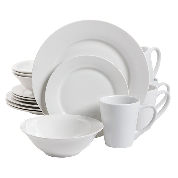 Noble Court 16 Piece Earthenware Dinnerware Set, Service for 4 by Gibson