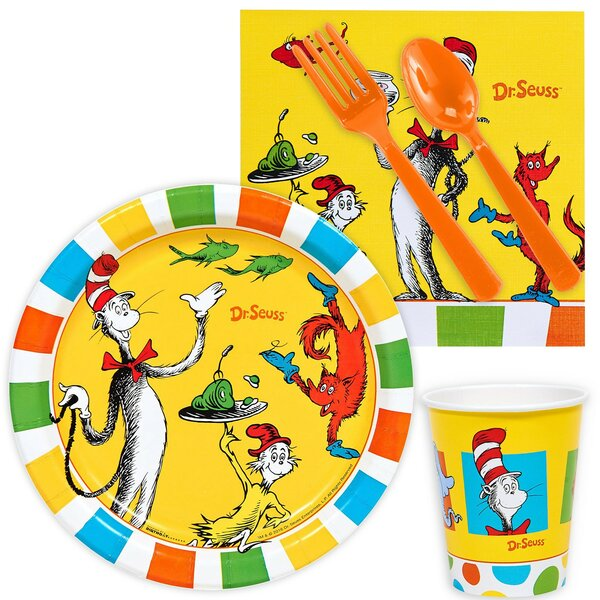 85 Piece Dr Seuss Paper And Plastic Snack Pack Set By Na.