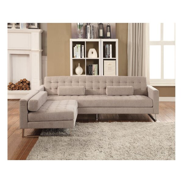 Porter Buttonless Tufted Sofa and Chaise by Brayden Studio