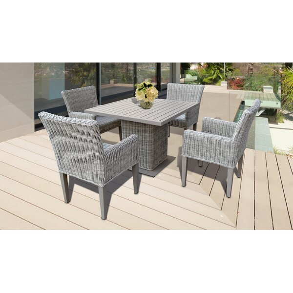 Julianna Square 5 Piece Dining Set by Rosecliff Heights