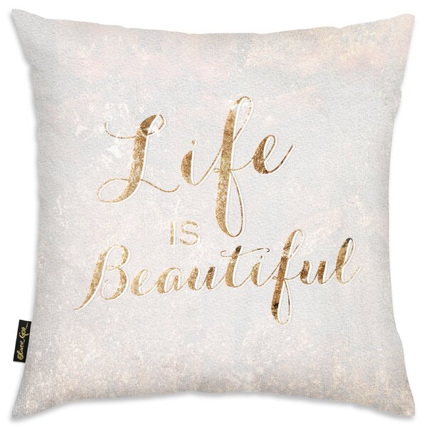 Life Is Beautiful Throw Pillow by Oliver Gal