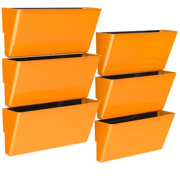Magnetic Wall Pocket (Set of 6) by Storex