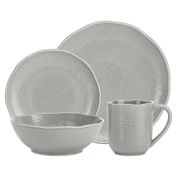 Odd Shape 16 Piece Dinnerware Set, Service For 4 by Godinger Silver Art Co