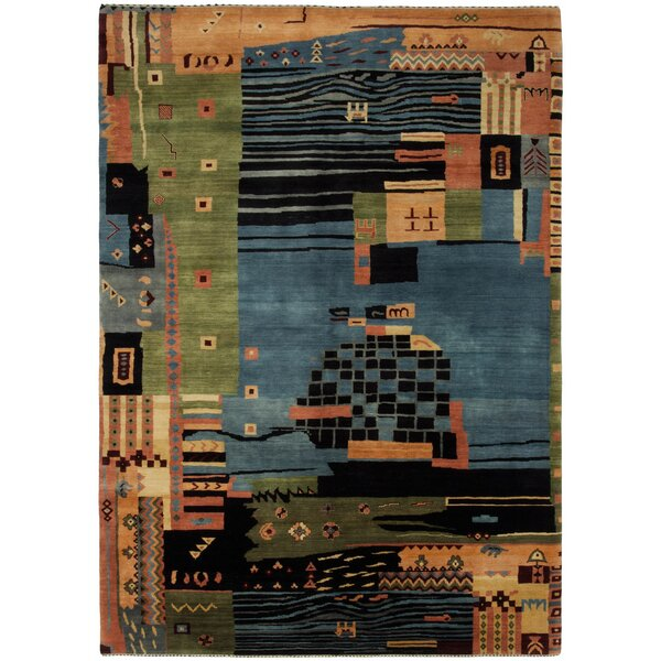 Gabbeh Hand-Knotted Area Rug by Shalom Brothers