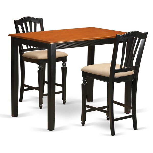 Yarmouth 3 Piece Counter Height Pub Table Set By East West Furniture Herry Up
