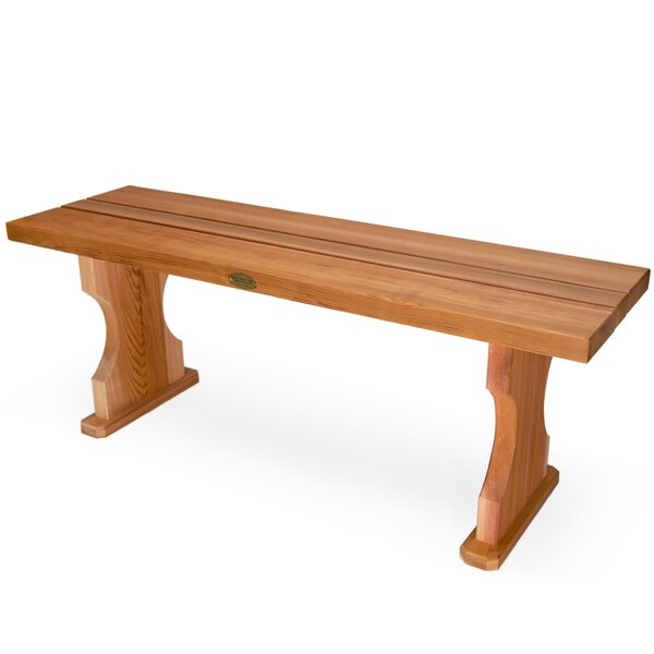 Western Red Cedar Wooden Picnic Bench by Union Rustic Union Rustic