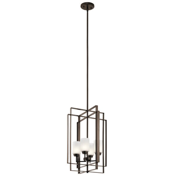 Zazueta 4 - Light Lantern Rectangle Chandelier By George Oliver