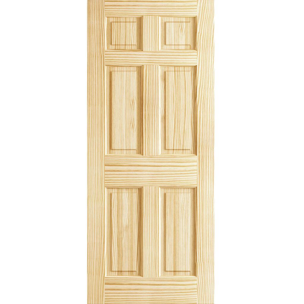 KIBY Colonial Solid Wood Panelled Pine Slab Interior Door ...