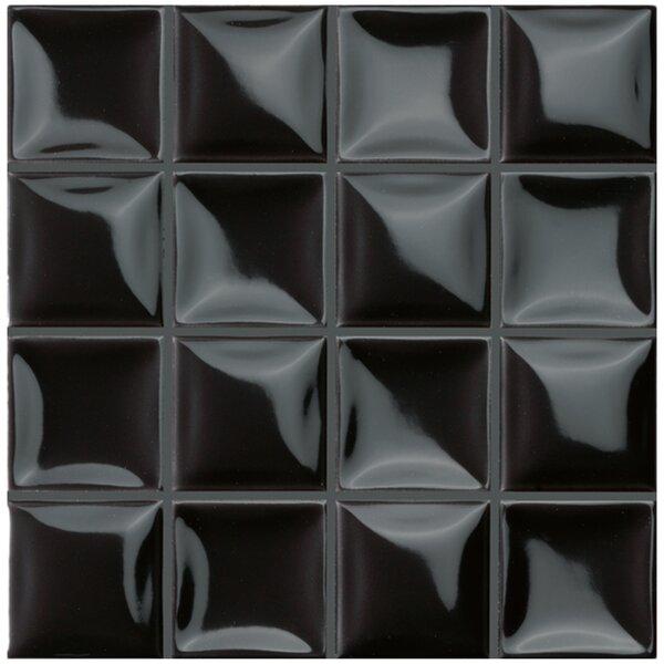 Catarina 7.88 x 7.88 Ceramic Field Tile in Black by EliteTile