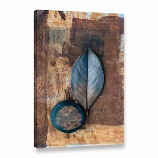 U0027Zen Leaf Zen Stoneu0027 By Elena Ray Paiting Print On Wrapped Canvas