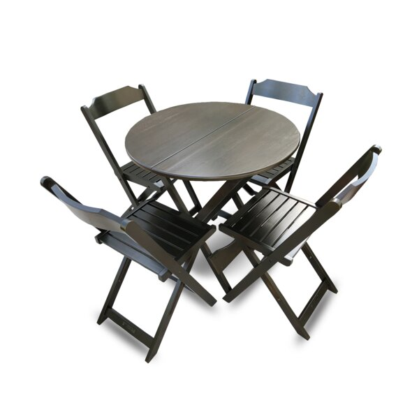 Channon Folding Round 5 Piece Dining Set by Winston Porter