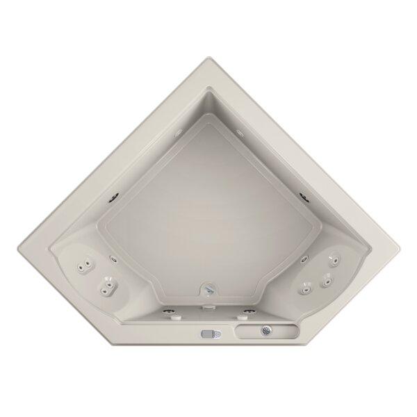 Fuzion Illuma LCD Whisper Right-Hand 66 x 66 Drop-In Whirlpool Bathtub by Jacuzzi®