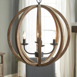 Farmhouse chandeliers birch lane stanton 4 light globe chandelier aloadofball Gallery