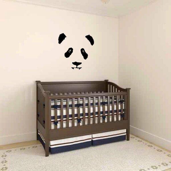 Ikin Panda Bear Face Wall Decal by Zoomie Kids