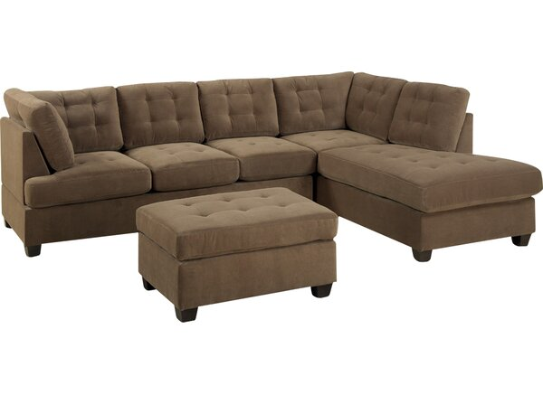Cool Collection Giovanny Reversible Sectional Snag This Hot Sale! 65% Off