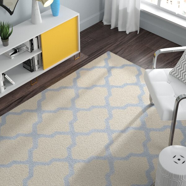Charlenne Hand-Tufted Ivory/Gray Area Rug by Zipcode Design