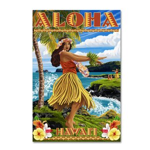'Hawaii' Graphic Art Print on Wrapped Canvas by Ebern Designs