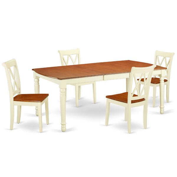 Lamanna 5 Piece Extendable Solid Wood Dining Set by August Grove