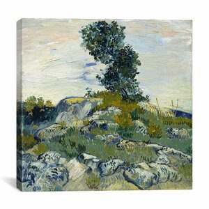 The Rocks by Vincent Van Gogh Painting Print on Wrapped Canvas by iCanvas