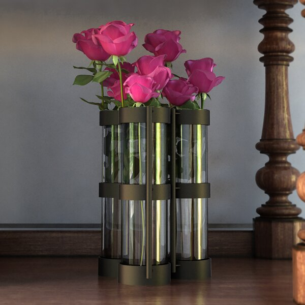 Frankie 7 Piece Metallic Vase with Stand Set by August Grove