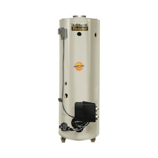 Commercial Tank Type Water Heater Nat Gas Conservationist 650000 BTU Input Powered Burner