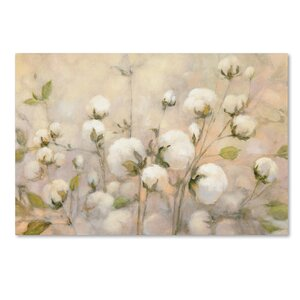 'Cotton Field' Print on Wrapped Canvas by Trademark Fine Art