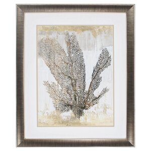 'Coral Splendor I' Framed Graphic Art by Propac Images