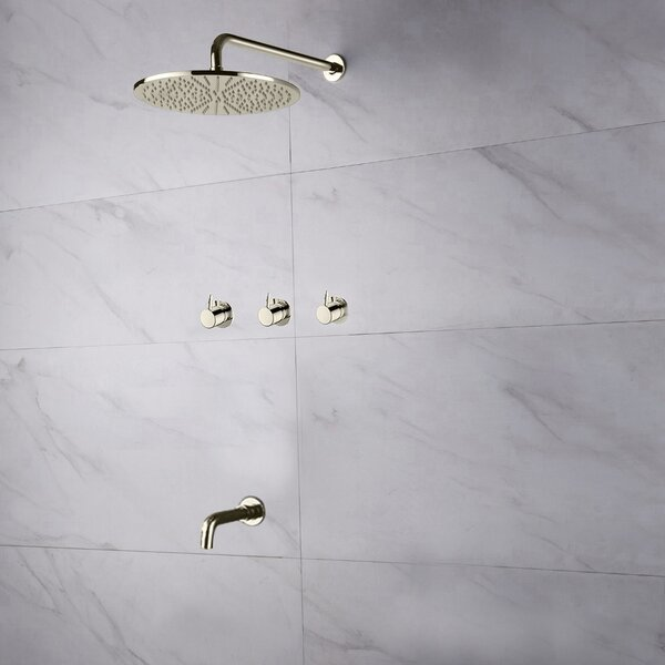 Oceana Thermostatic Complete Shower System With Rough-in Valve By FontanaShowers