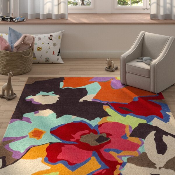 Aero Hand-Tufted Floral and Paisley Area Rug by Harriet Bee