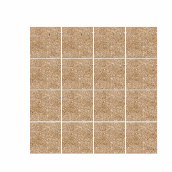 Tumbled 4 x 4 Travertine Field Tile in Noce by Parvatile