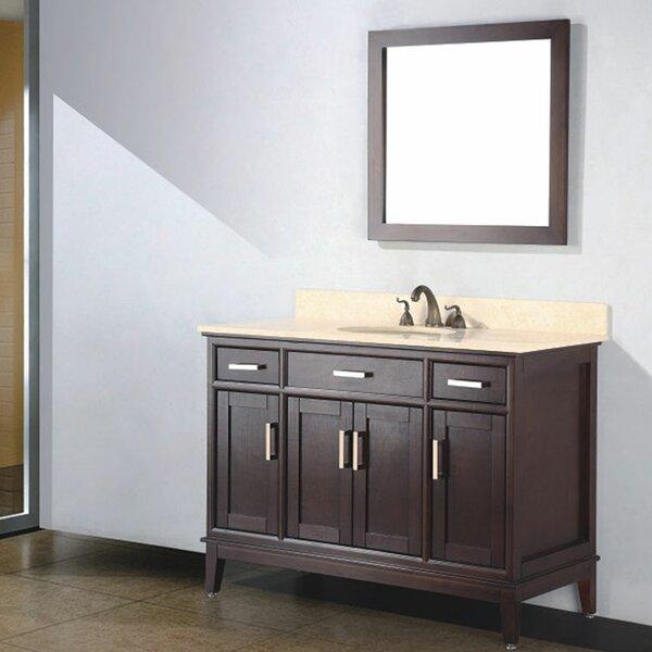 Augusta 48 Single Bathroom Vanity Set with Mirror by Adornus
