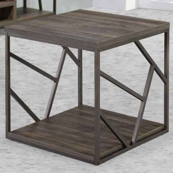 Linde End Table by Wrought Studio