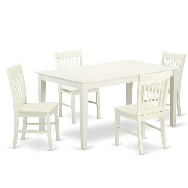 Smyrna Solid Wood Dining Set by Charlton Home Charlton Home