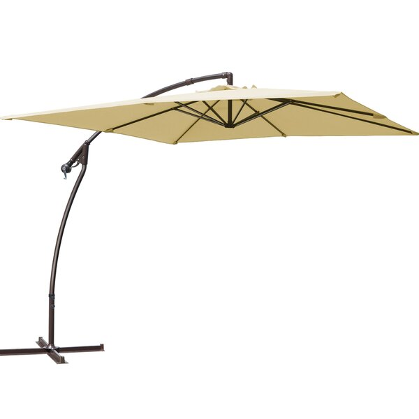 Marie Patio 8' Square Cantilever Umbrella by Freeport Park