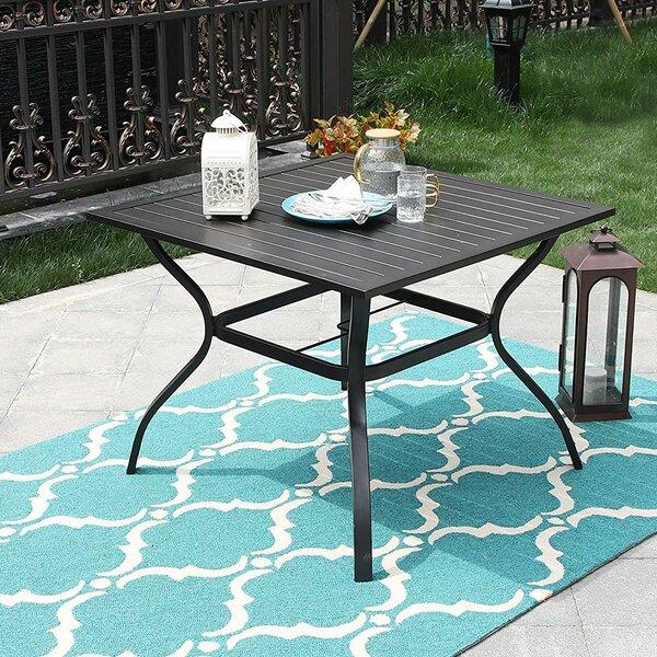 Strassen Steel Dining Table By Latitude Run