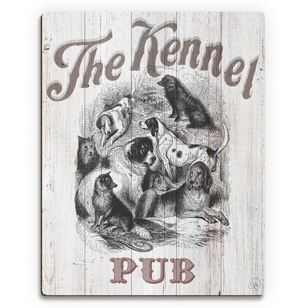 The Kennel Pub Vintage Advertisement on Plaque by Click Wall Art