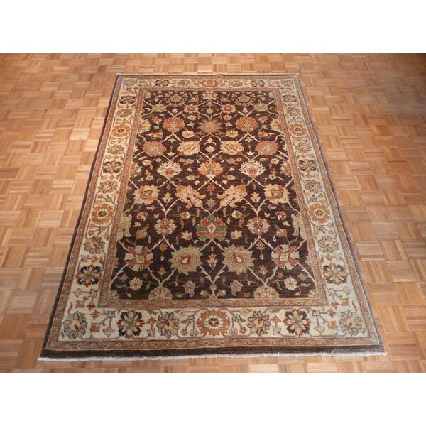 One-of-a-Kind Railsback Hand-Knotted Wool Brown Area Rug by Astoria Grand