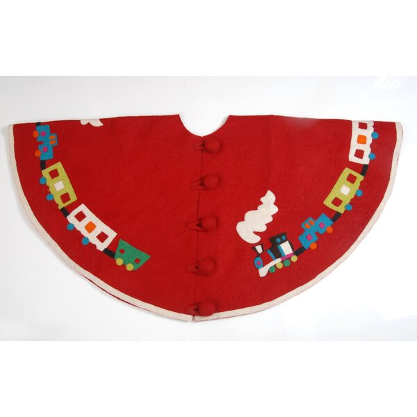 Toy Train Christmas Tree Skirt by Arcadia Home