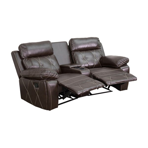2-Seat Reclining Home Theater Loveseat By Winston Porter
