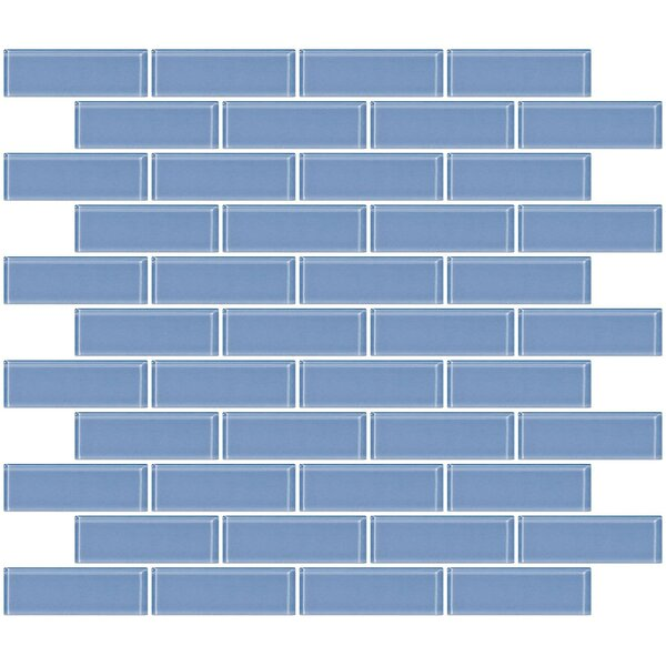 1 x 3 Glass Subway Tile in Light Periwinkle Blue by Susan Jablon