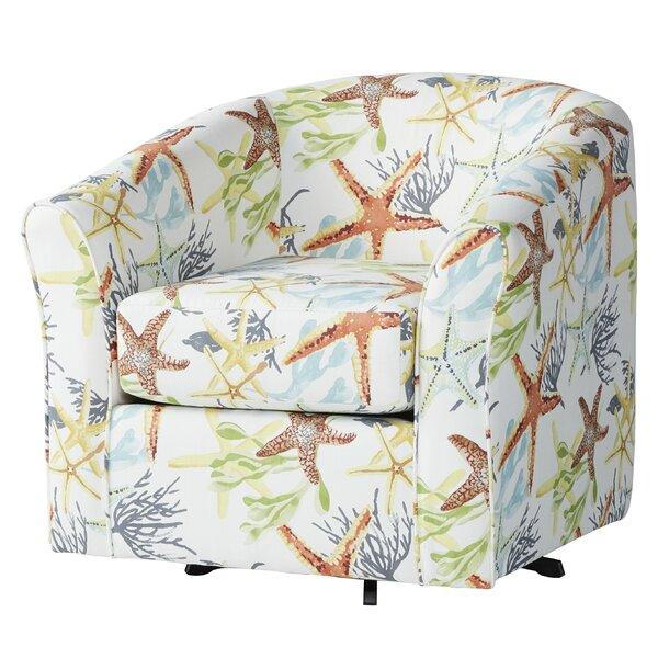 Ginsburg Swivel Barrel Chair by Highland Dunes Highland Dunes