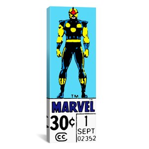 Marvel Comics Nova Price Tag Panoramic Vintage Advertisement on Canvas by iCanvas