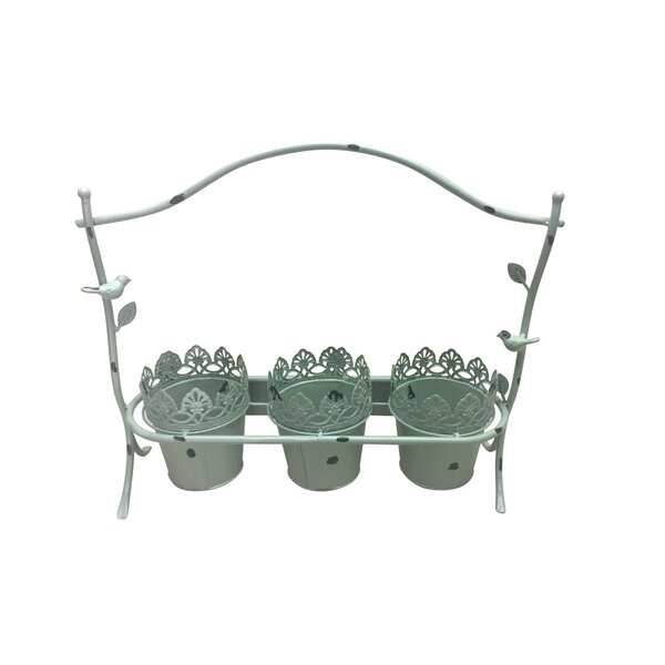 Avelin Metal Pot Planter by Jeco Inc.