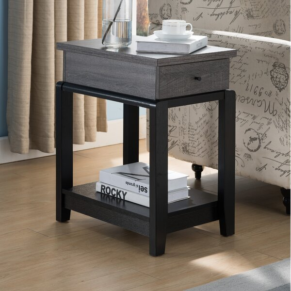 Derrick End Table With Storage By Gracie Oaks