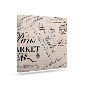 'French Script' Textual Art on Canvas by East Urban Home