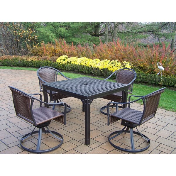 Lisabeth 5 Piece Swivel Dining Set by Red Barrel Studio