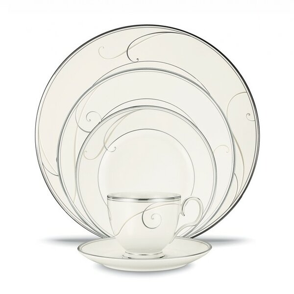 Platinum Wave 20 Piece Dinnerware Set, Service for 4 by Noritake